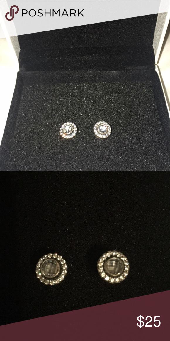 Pandora Earrings Brilliant Legacy Sterling Silver Studs