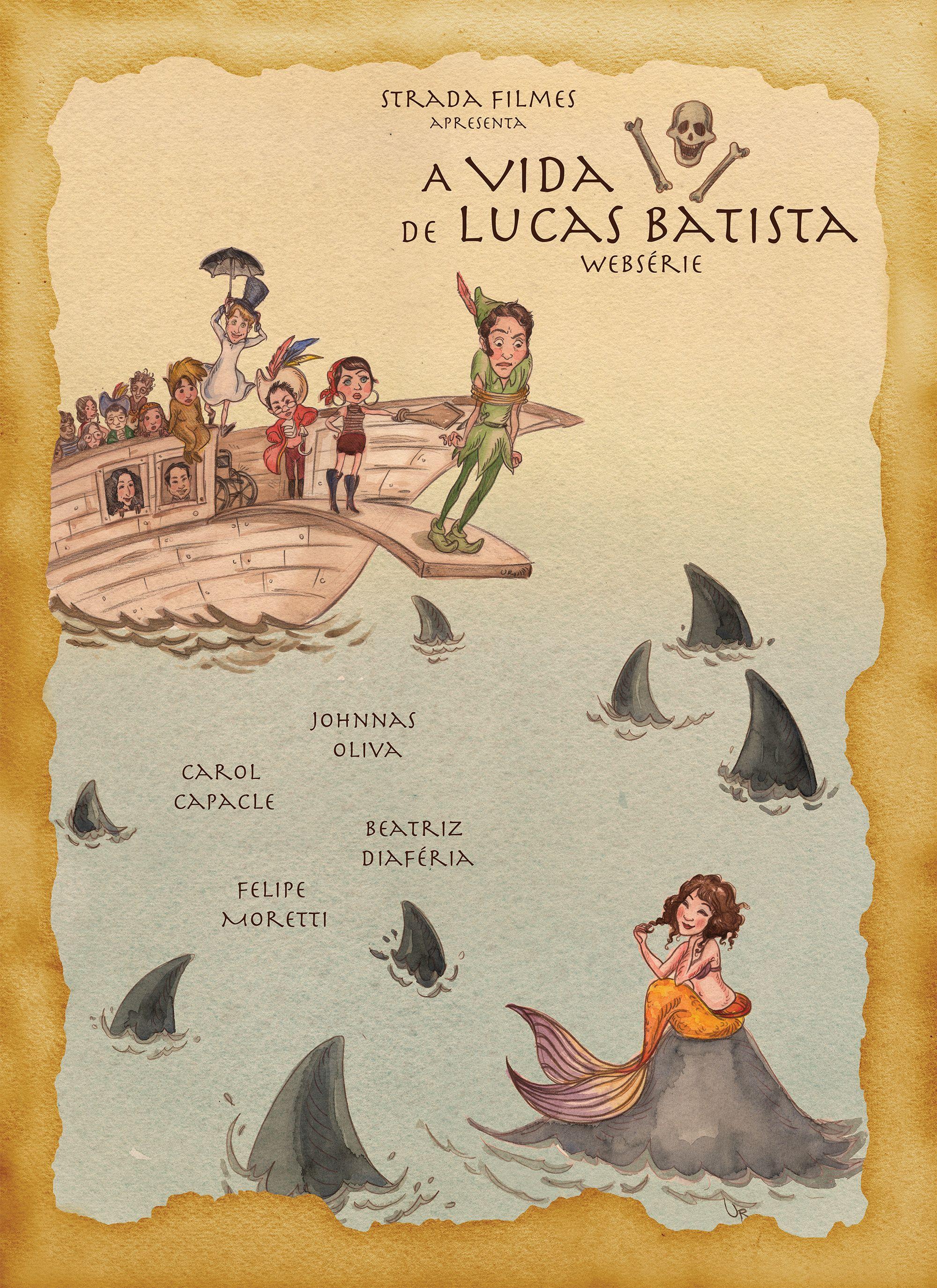 Websérie A Vida \o/ de Lucas Batista - belíssimo pôster desenhado por Rosana Urbes #AVLB #webserie
