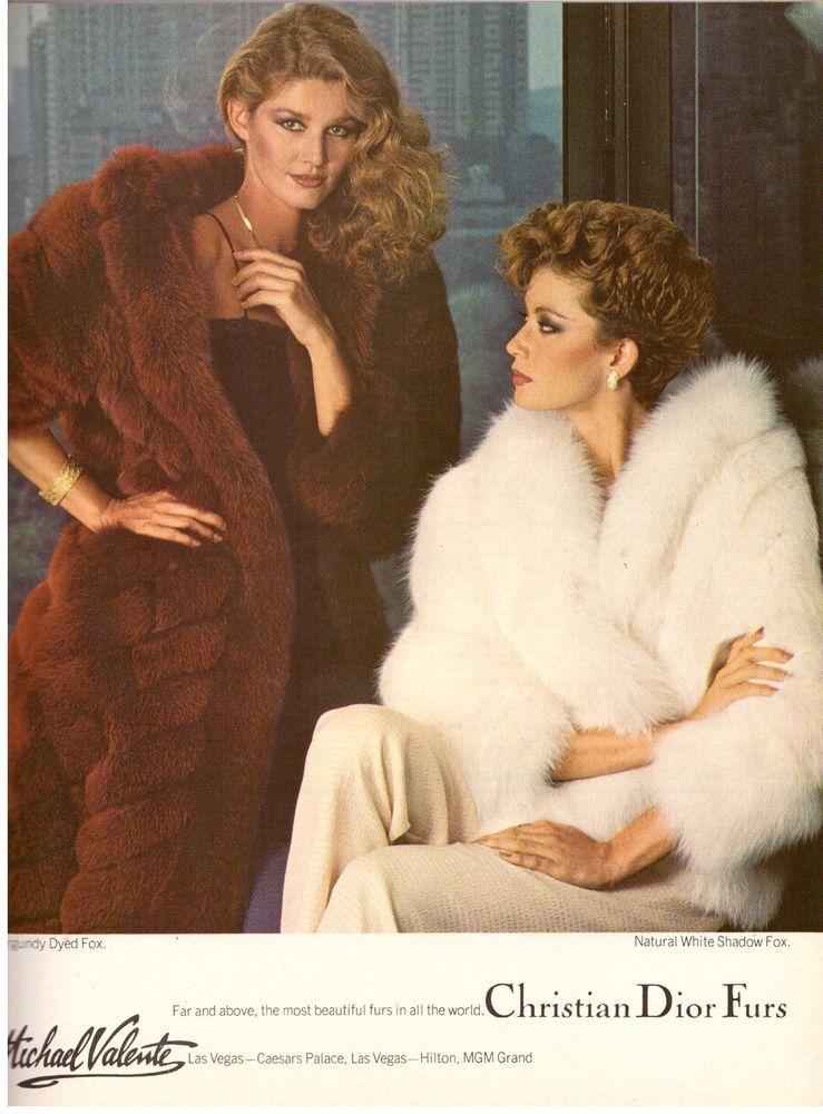 Details About 1980 Christian Dior Furs Fox Michael Valente