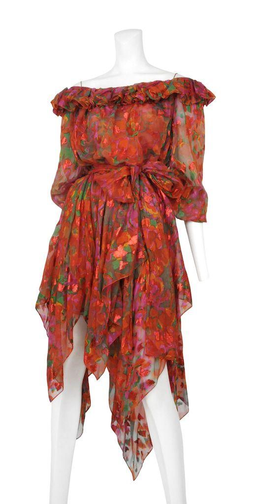 Vintage Yves Saint Lau Dress Resurrection Ysl