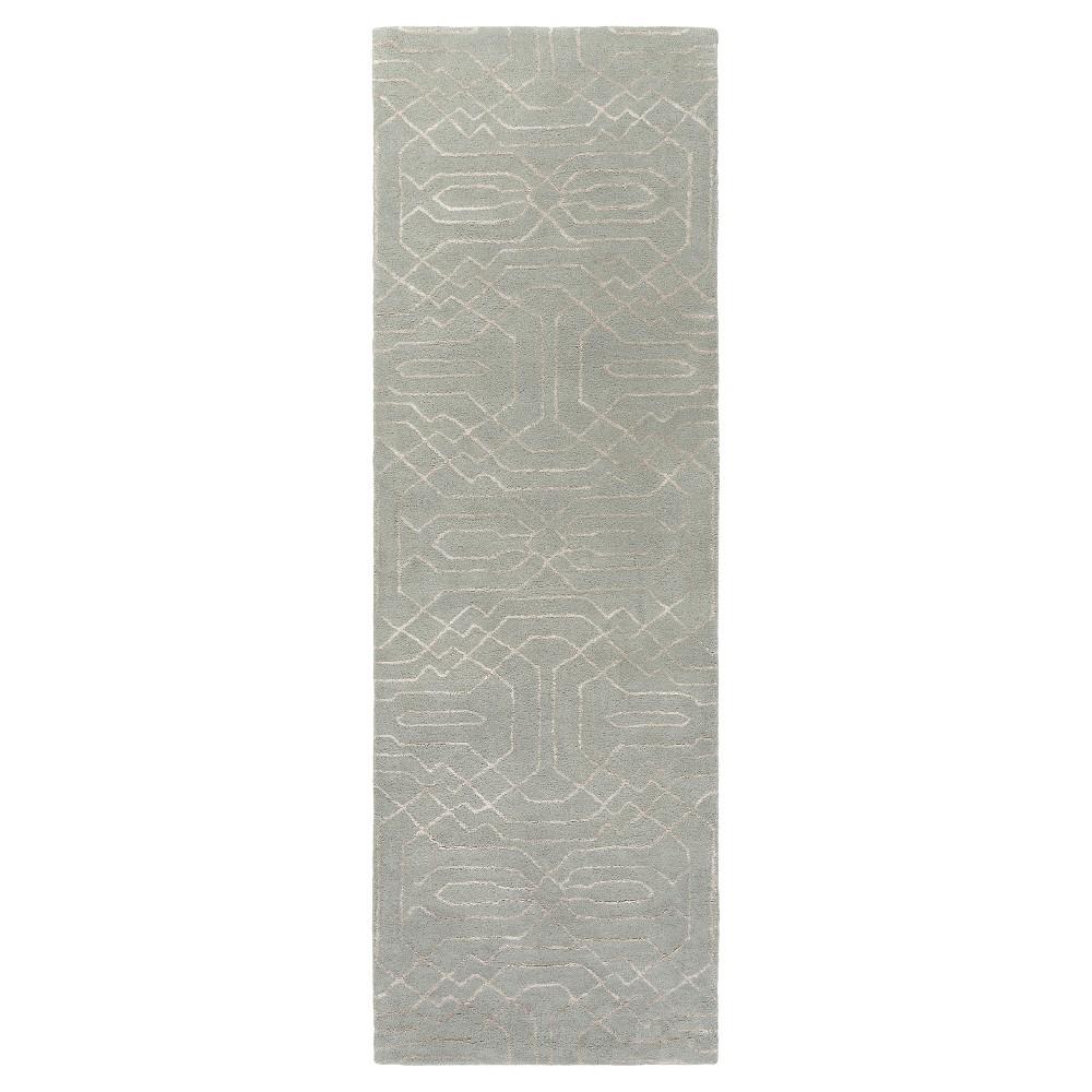 Astrid Runner - Light Gray, Cream - (2'6 x 8') - Surya