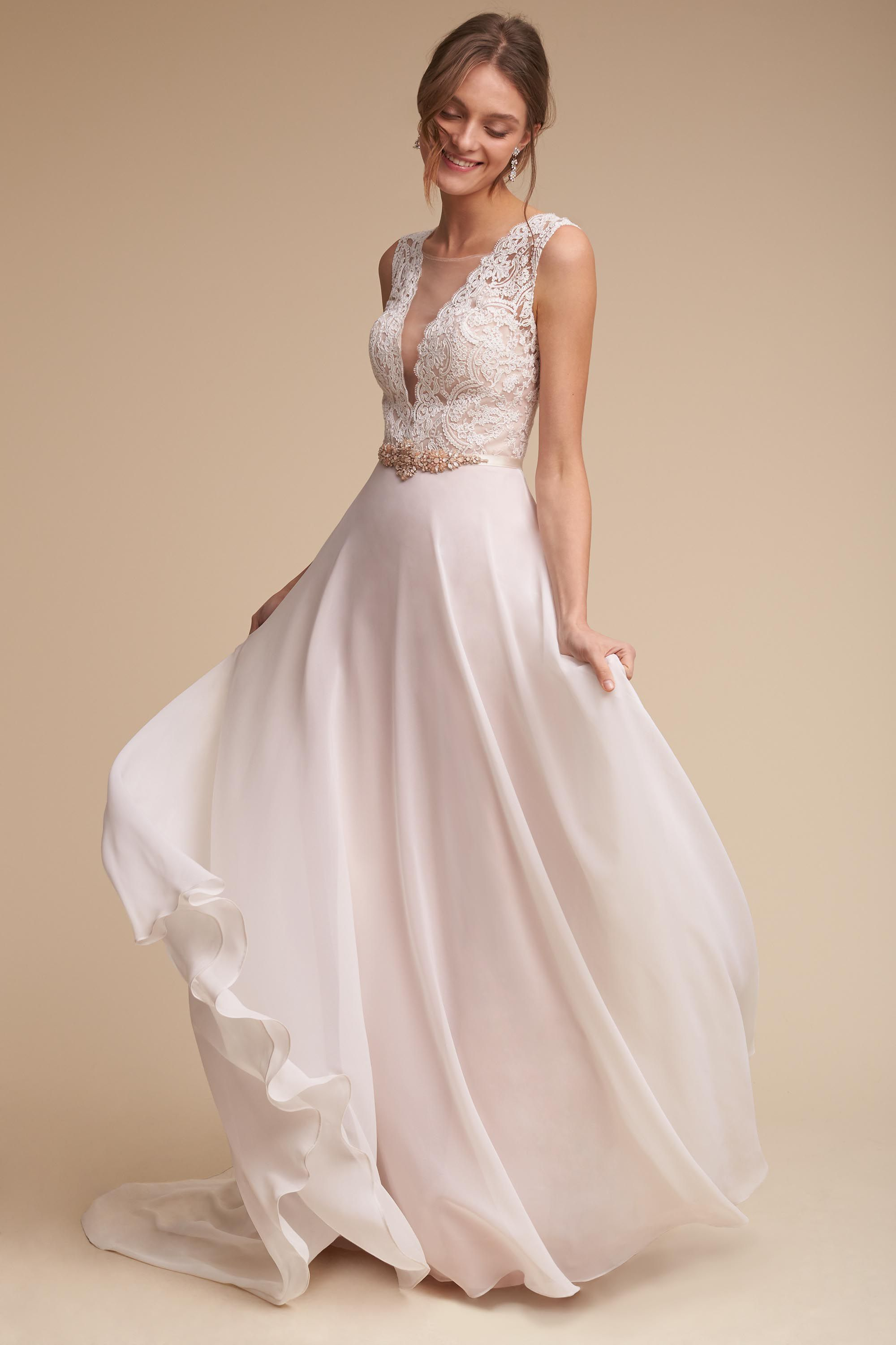 Long sleeve casual wedding dress   Beach Wedding Dresses That Will Make You Fall In Love All Over