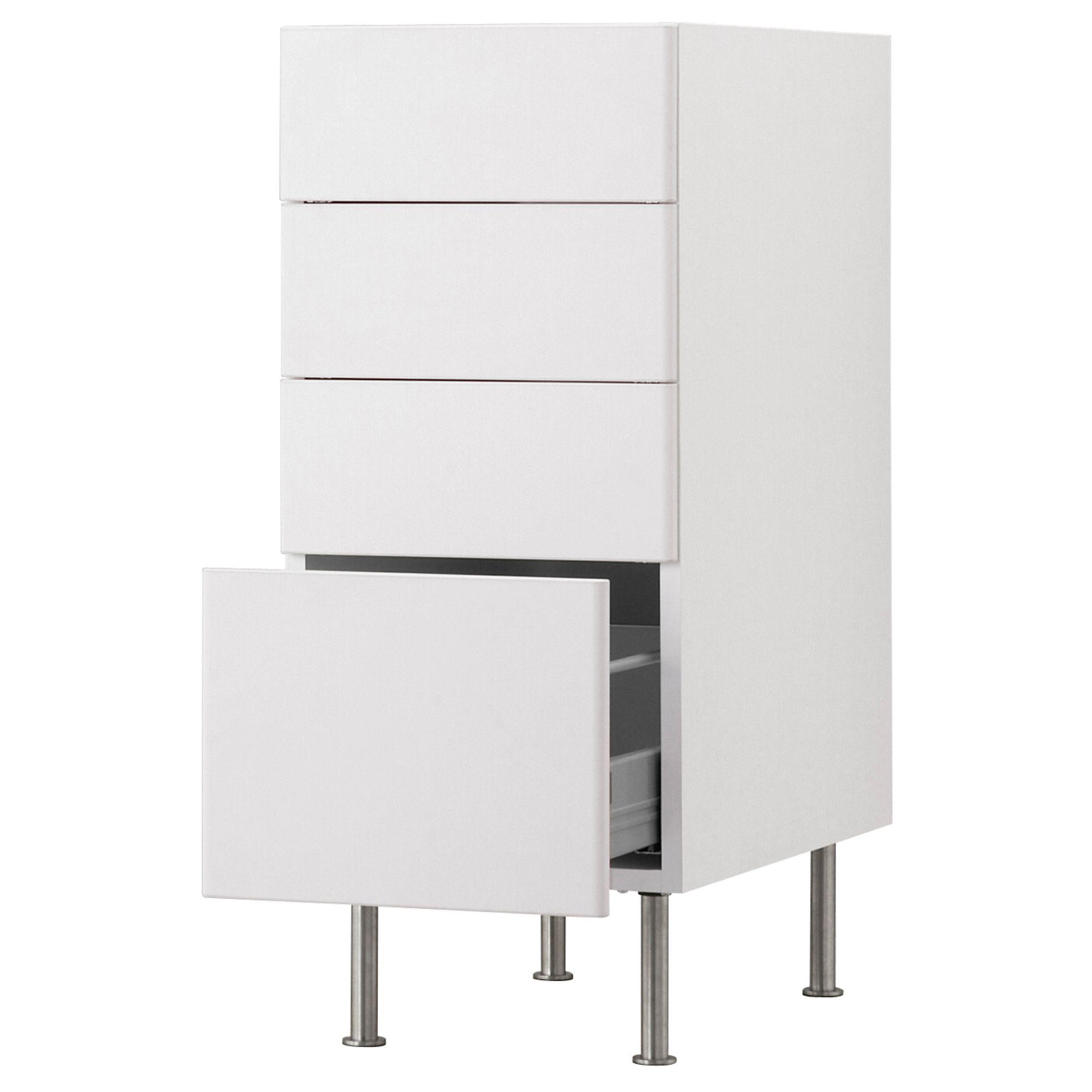 AKURUM Base Cabinet With 4 Drawers   White, Härlig White, 15   IKEA