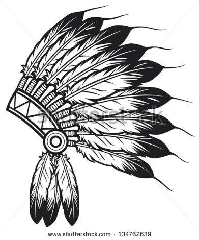 Native American Indian Chief Headdress Tatuagem Cocar Cocar