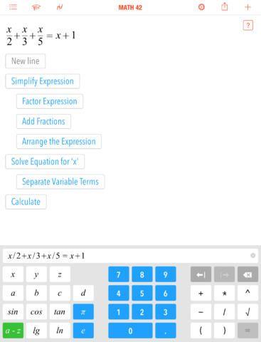 Math 42 – A Calculator and Math Tutorial In One App (iPad