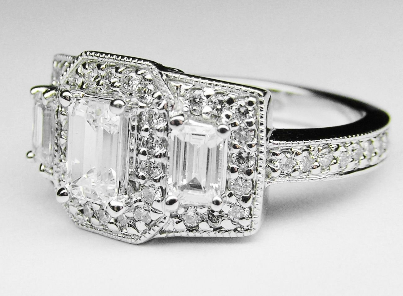 Vintage 3 Stone Diamond Ring Settings