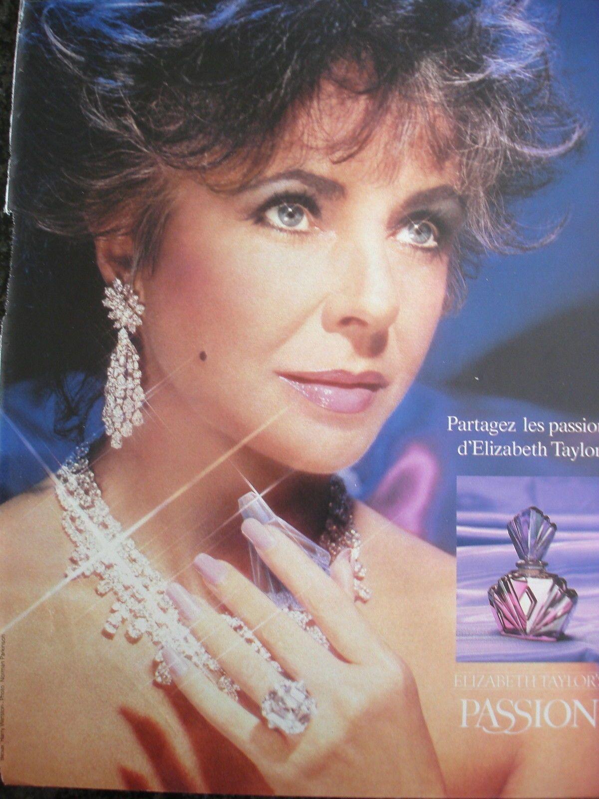 Elizabeth Taylor Publicte Parfum Fragrance Passion Advertising Clipping In Bijoux D Elizabeth Taylor Publicite Parfum Parfum D Epoque
