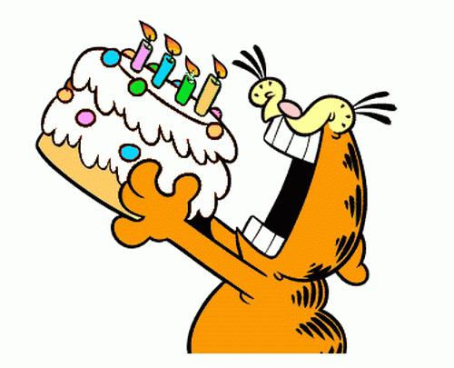 Animated Garfield Birthday Cake Images.Gif | Happy birthday cat, Garfield  birthday, Garfield pictures