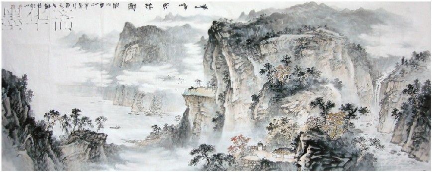 Free-shipping-traditional-Chinese-landscape-painting-100-handpainted-calligraphy-and-painting-ink-and-wash-painting-MCS01.jpg 868×345 pixels