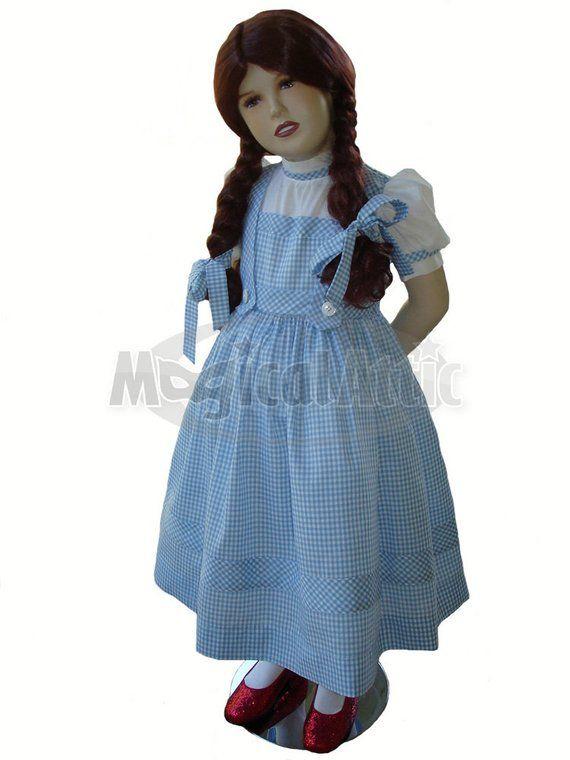 b9370b9dfe9 Custom Boutique DOROTHY of Wizard of Oz Girl Size Costume Dress ...