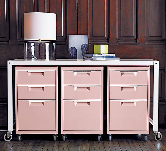 Interiors · What A Great Idea   Pretty Pink Filing Cabinets