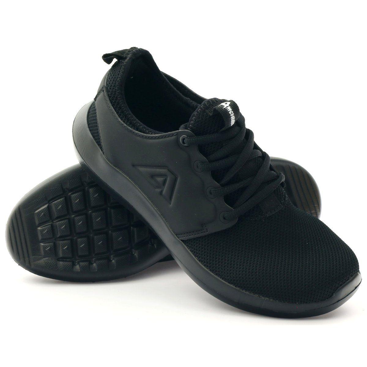 American Club Sportowe Joggingowe American 1772 Czarne Baby Shoes Shoes American