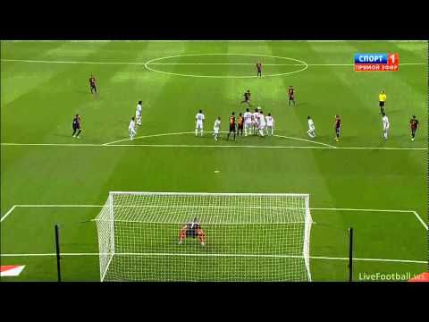 Lionel Messi Amazing Free Kick Goal Vs Real Madrid 29/08.2012 !