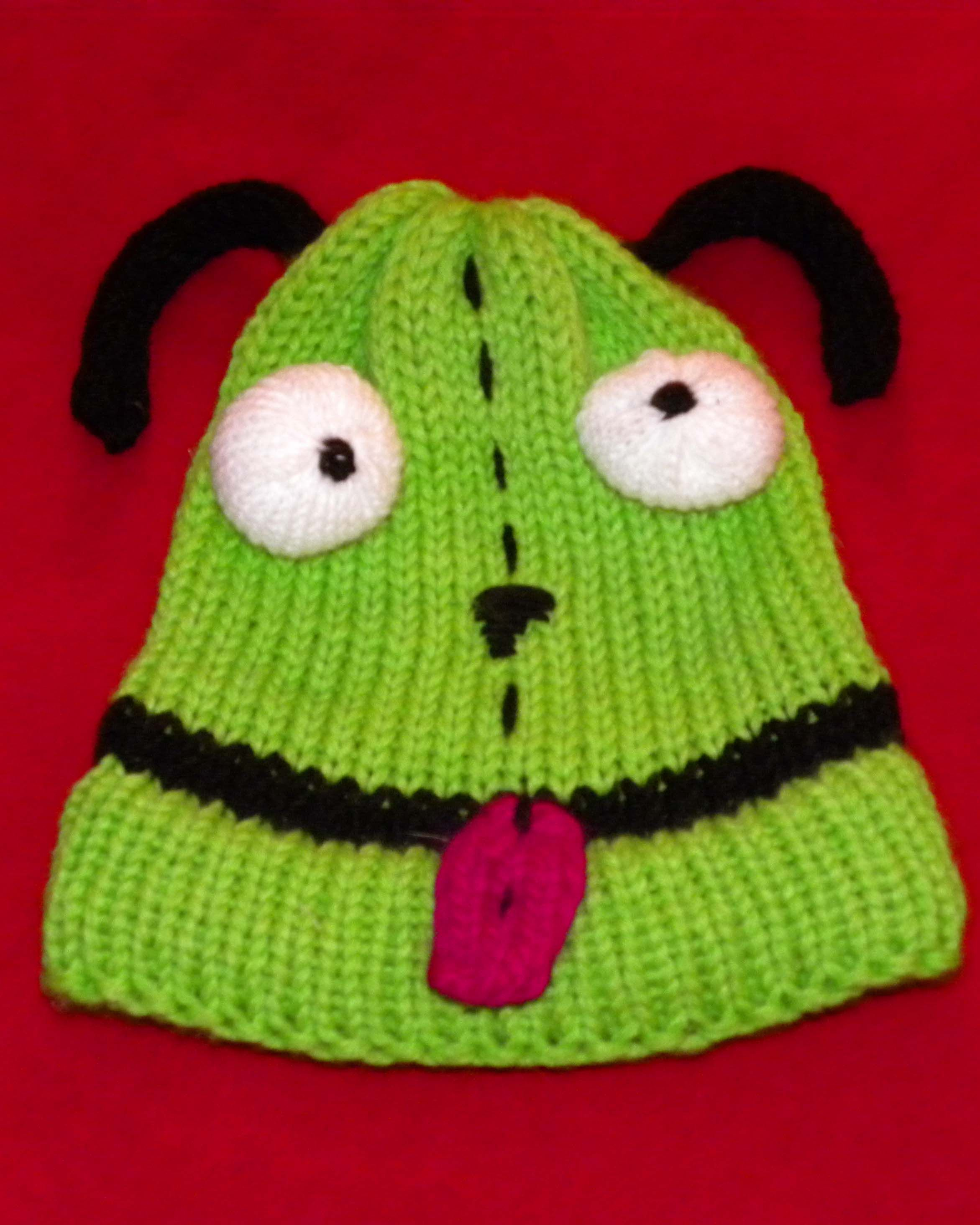Invader Zim loom knit hat. This is Grrr, yep that\'s his name. Just ...