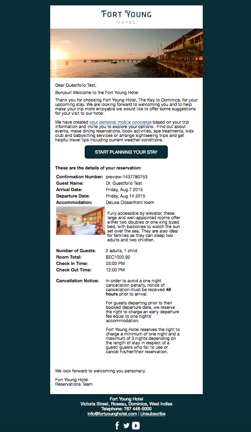 Confirmation email from fort young hotel dominica guestfolio confirmation email from fort young hotel dominica pronofoot35fo Choice Image