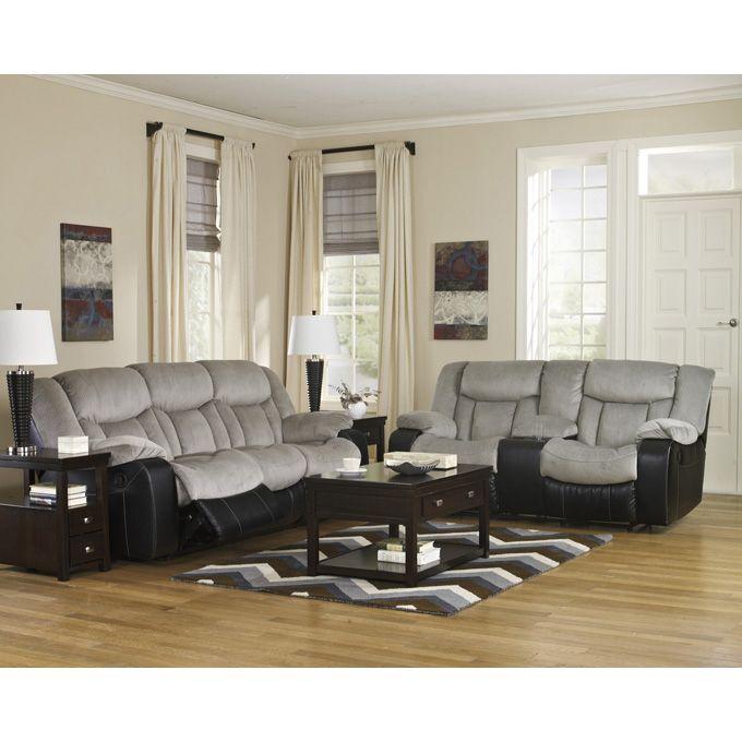 Terrific Ashley Tafton Alloy Two Piece Reclining Sofa Set With The Dailytribune Chair Design For Home Dailytribuneorg