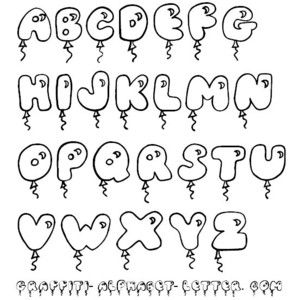 cute bubble letters letters graffiti fonts fonts calligraphy 21292