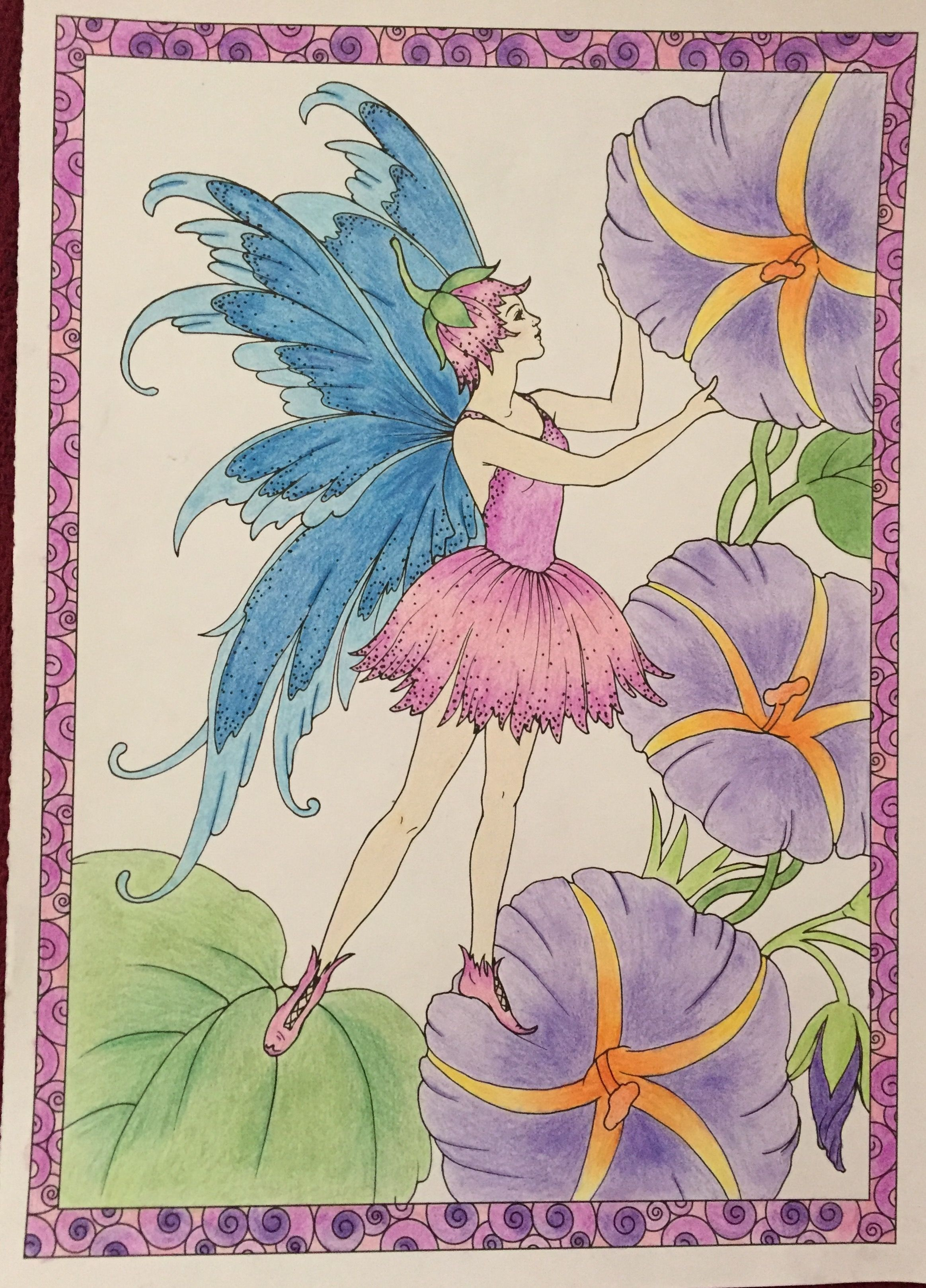 I colored this one from, the Enchanted Fairies, coloring ...