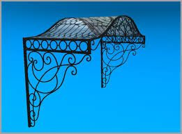 Image result for IRON AND GLASS AWNING | Wrought iron ...