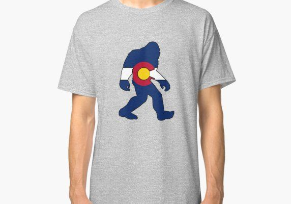 Colorado flag big foot yeti Classic T-Shirt Flags and Products - resume yeti
