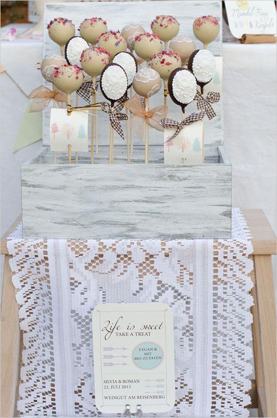 box of cake pops http://www.weddingchicks.com/2013/10/24/pastel-wedding-inspiration/