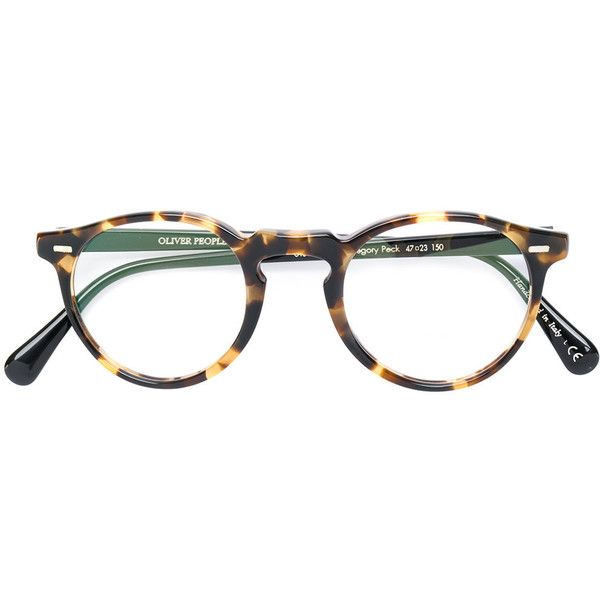 Oliver Peoples Gregory Peck round frame glasses ($357) ❤ liked on ...