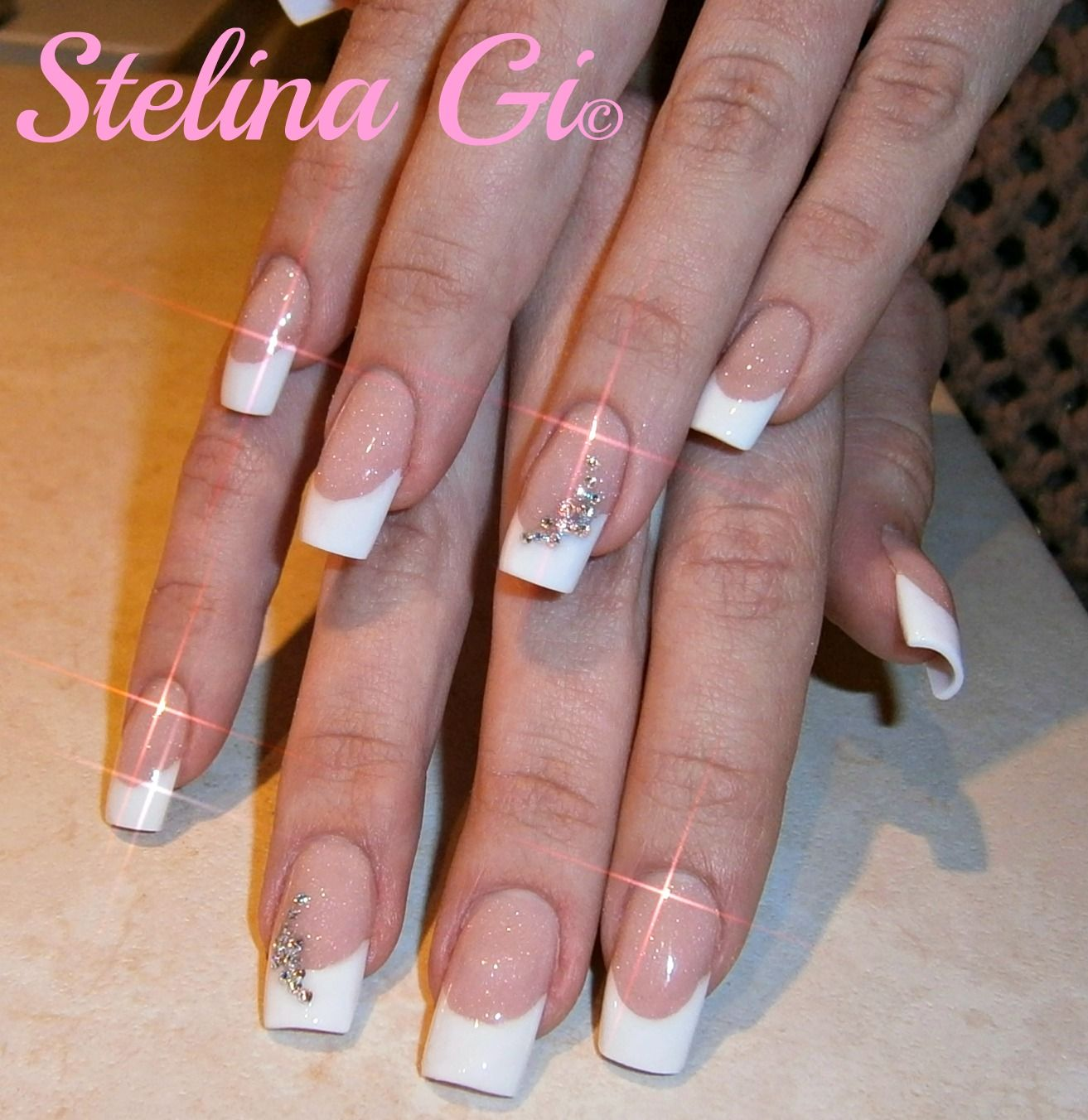 Simple Nails Designs With Rhinestones Picture DIY Nails