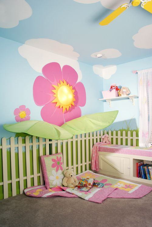 Such a cute idea for RAYNE!!!  Love this! I've always wanted to paint my room with clouds on the ceiling and walls when I was a little girl!