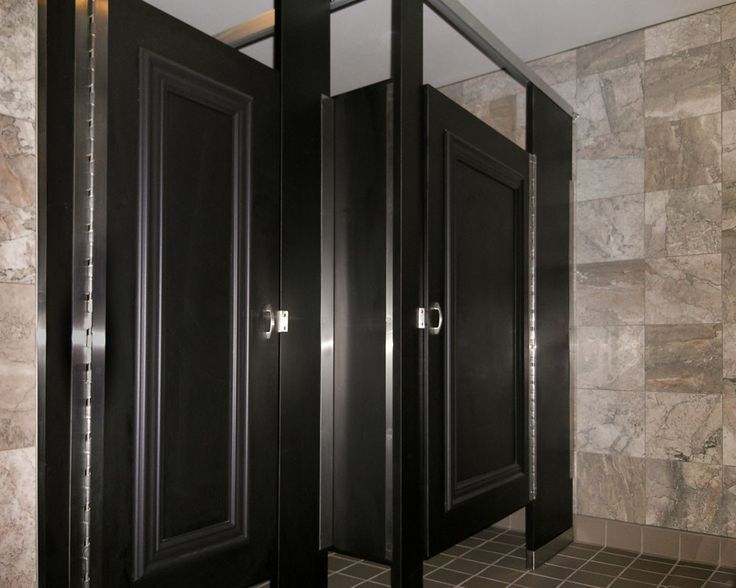 Bobrick Bathroom Partitions Property bobrick partitions in black for all bathrooms | abc for andrew