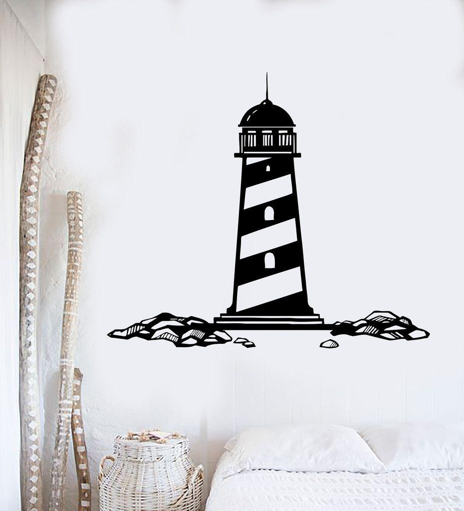 stickers Lighthouse Wall Decal Removable Sticker Vinyl Decor Art Sea Ocean Nautical Beach