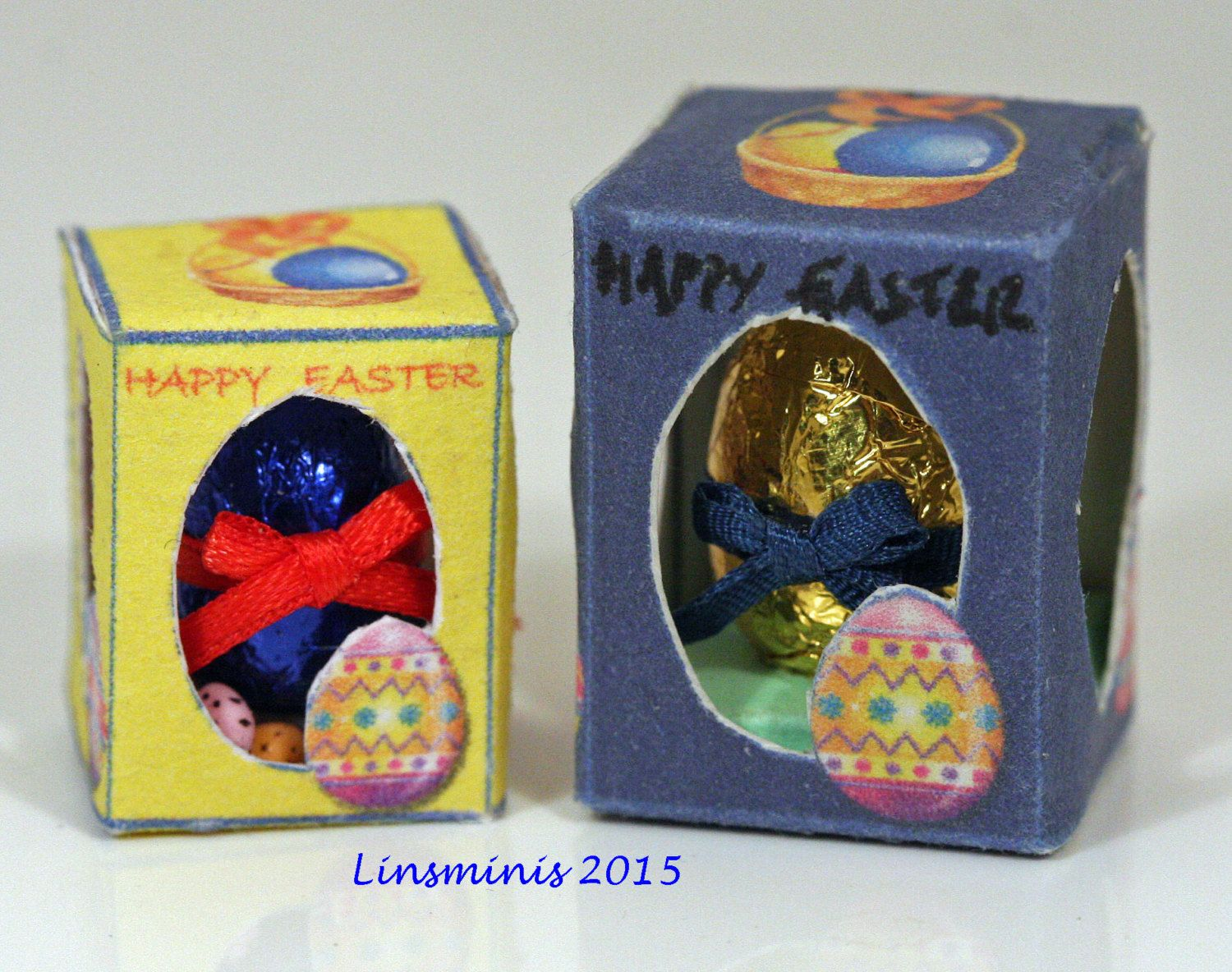 doll house miniature 12th scale boxed Easter eggs by linsminis