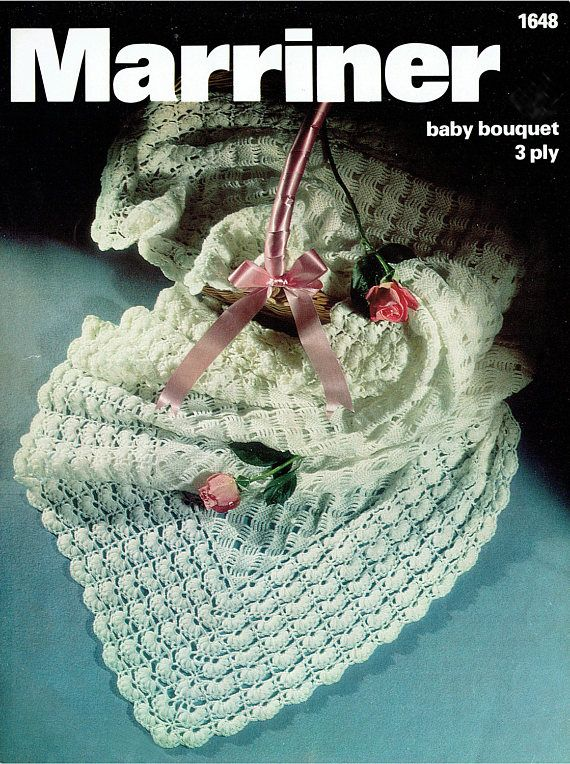 PDF Vintage Pretty Baby Christening Shawl Blanket Crochet ...