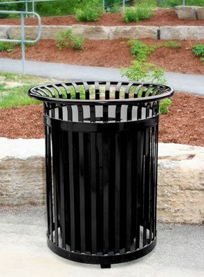 Outdoor Trash Can With Wheels 34 Gallon Outdoor Trash Can  Belson Products  Pinterest