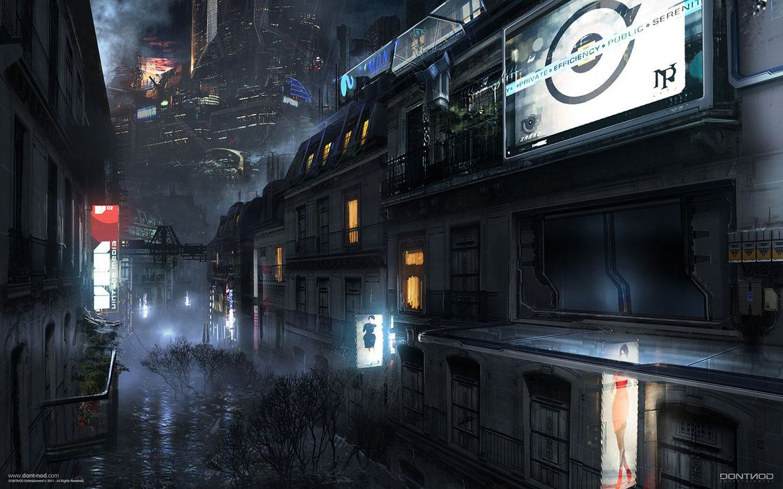 Cyberpunk Dystopia Night City Cyber City Dontnod Adrift Conceptart 07 By Paooo On Deviantart Futuristic City Sci Fi City Concept Art