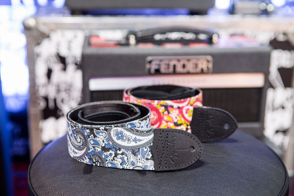 Have guitar, will travel? Not without a strap. Luckily, Fender had a lot of new straps on display at NAMM. Eyes were drawn to the new Paisley Denim Straps, which recalled the likes of James Burton's paisley Telecaster. Good thing, because these paisley straps use the exact same bright pattern from famous guitars. In addition, the artisan-crafted leather straps in two- and two-and-a-half-inch editions had people talking. Each one is made from the best-quality leather with saddle-grad…