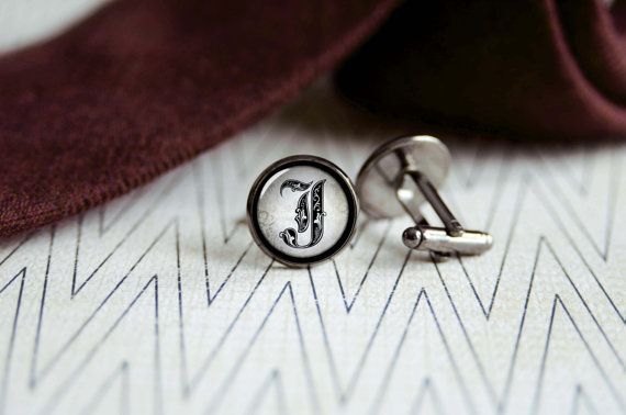 Royal Letters Initials cufflinks  Mens jewelry  by SummerAfterglow, $12.00