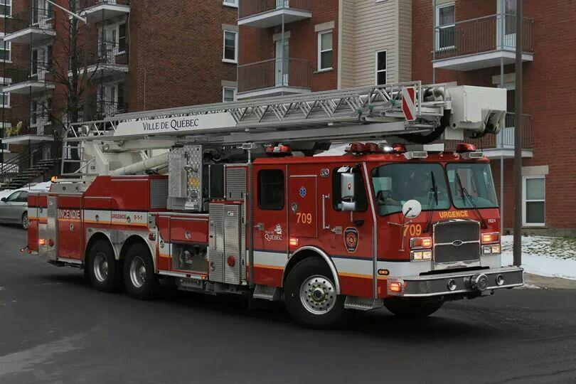Service incendie ville de Quebec Fire trucks, Emergency