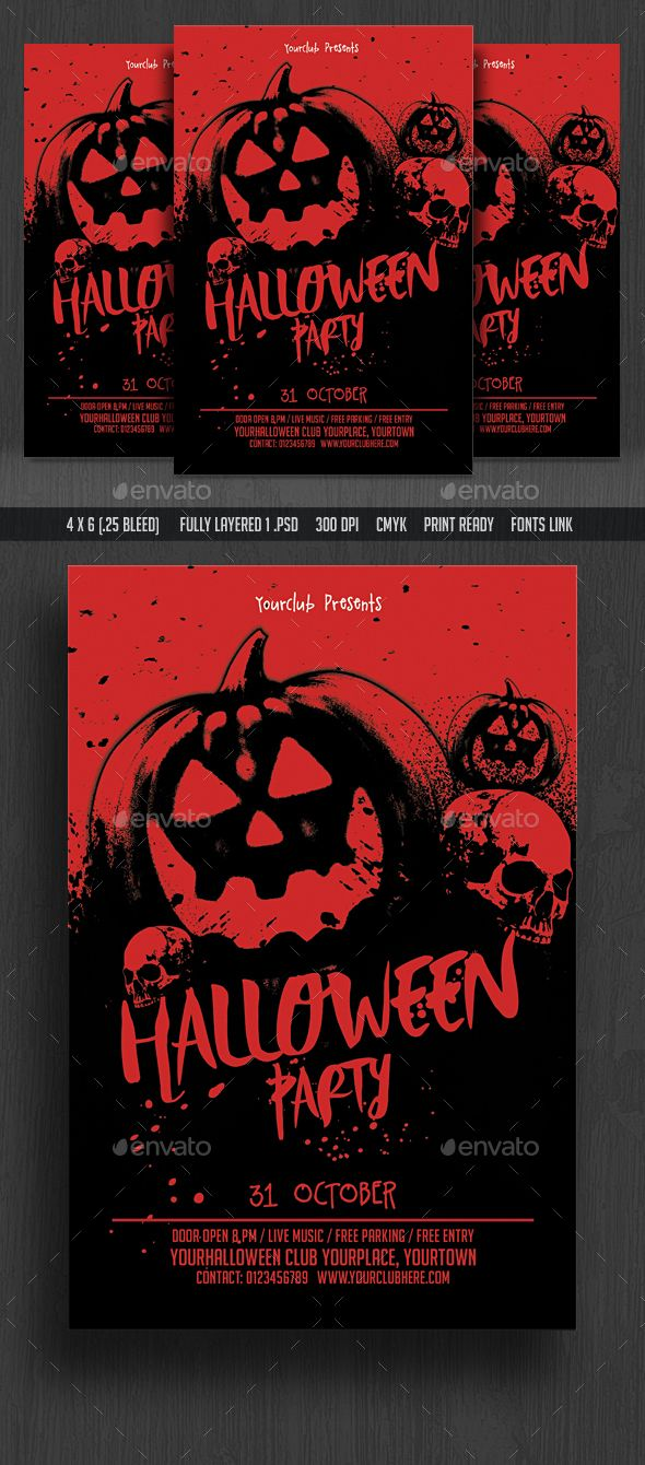 Halloween Party Flyer | Halloween party, Flyers and Flyer template