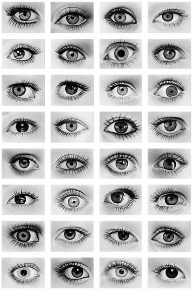 Human eye drawings