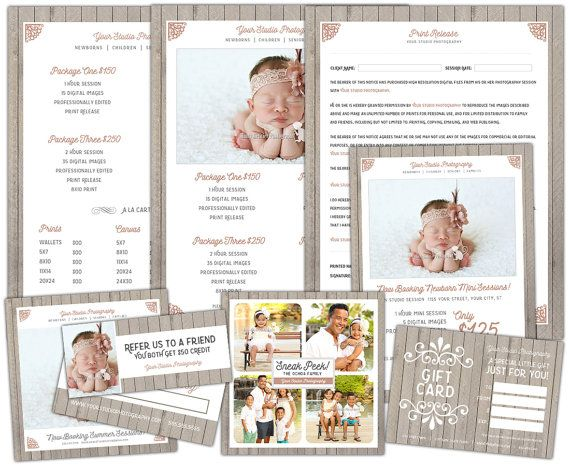 Photography Marketing Template Set - Bundle - Price Sheet - Mini - Price Sheet Template