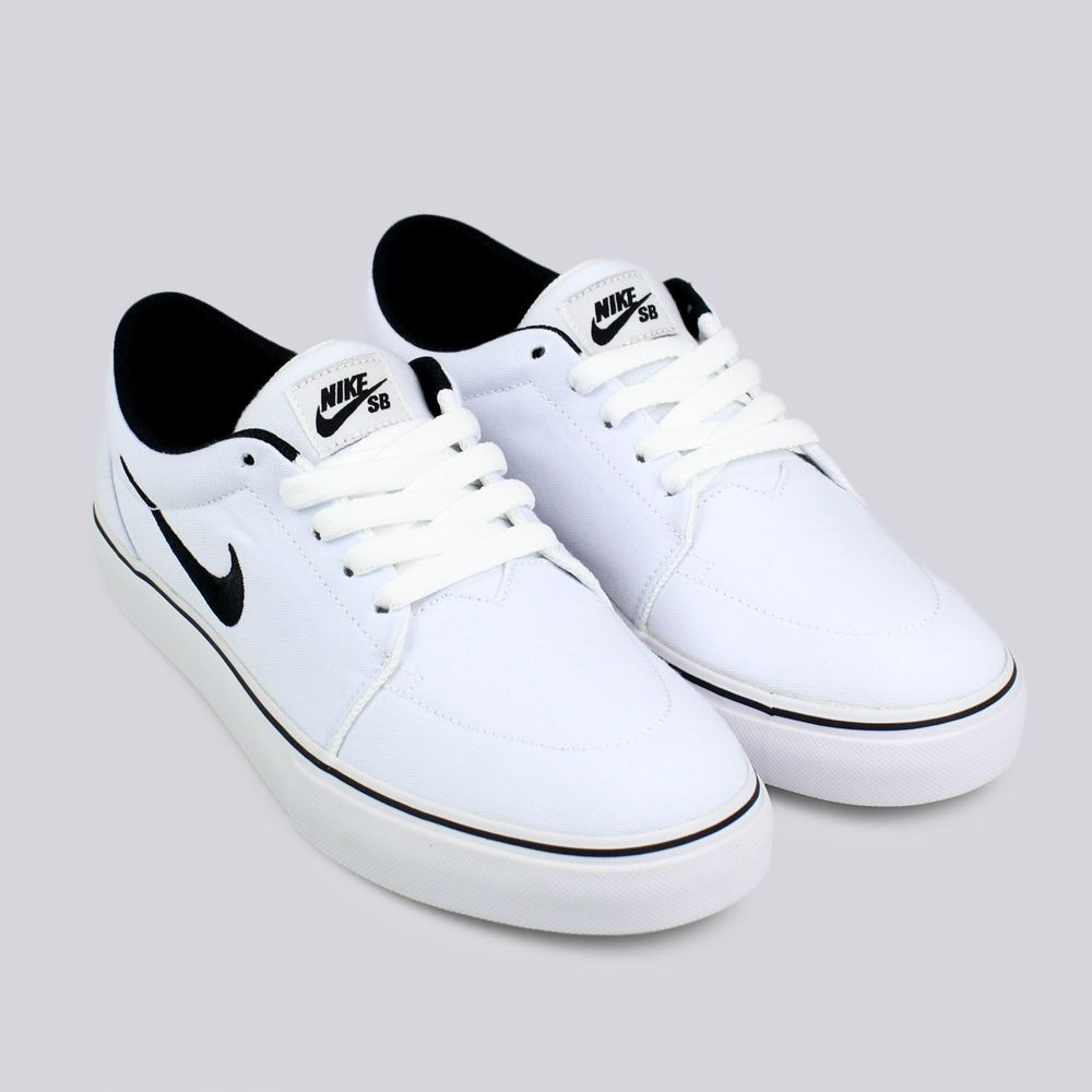 Nike SB Nike Satire Canvas Trainers White Black