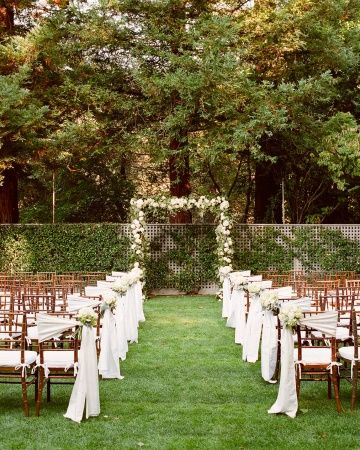 Wedding chair sashes ideas ideas and more ideas about how to elegant outdoor wedding reception decor and outside wedding decoration ideas 21 junglespirit Images
