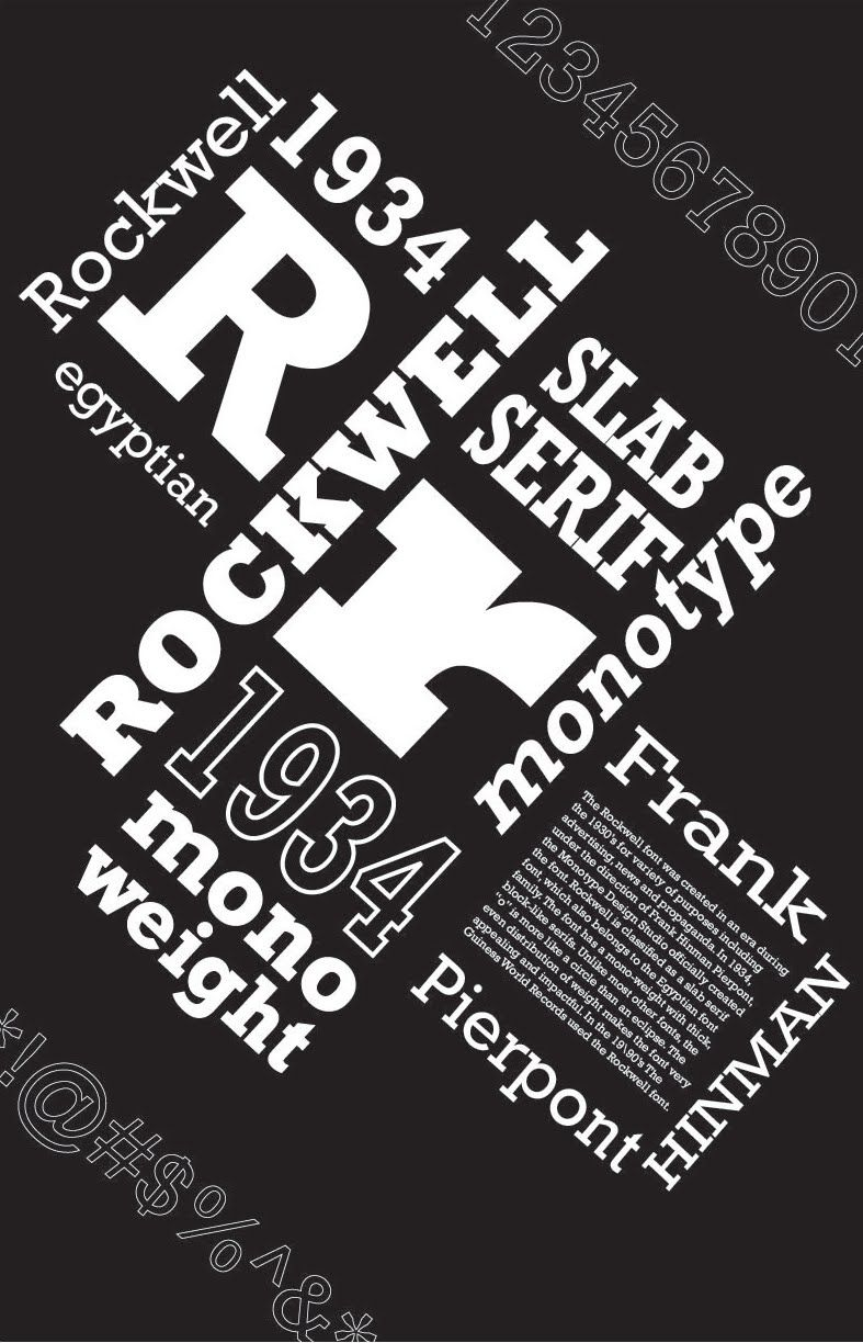 Rockwell Font Poster Poster Fonts Typeface Poster Typography Design Font