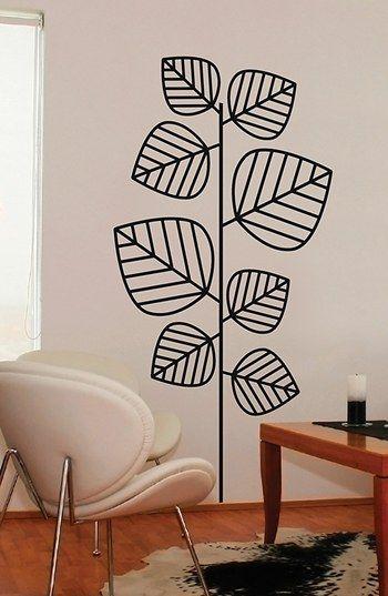 Wallpops Leaves Flocked Wall Art Decoracao De Parede
