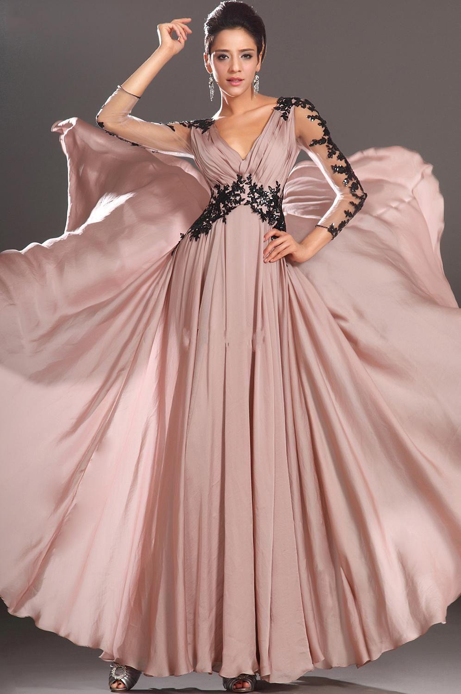Barato 2015 Do Vintage Vestidos de Baile Sheer Sexy Com Decote Em V ...