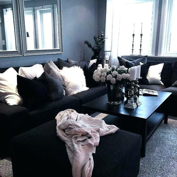 Image Result For Black White And Rose Gold Living Room Black Living Room Living Room Designs Apartment Living Room #rose #gold #living #room #ideas