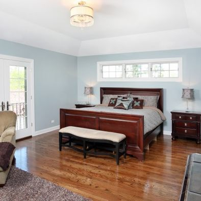 Window Above Bed Bedroom Master Suite Addition Plans