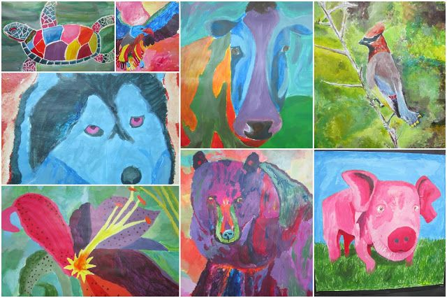 Floyd County High School Art Department: Acrylic Paintings in the Style of Artist Ron Burns
