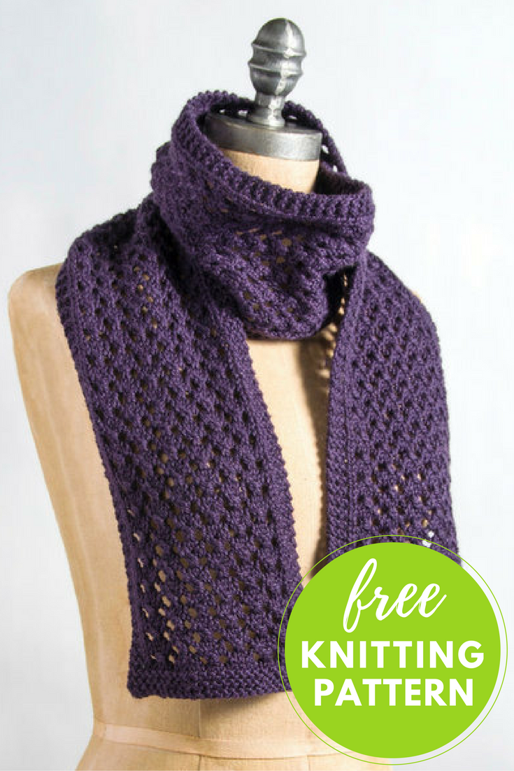 Knitting Pattern For Simple Scarf : Extra Quick and Easy Scarf Free Knitting Pattern Knitting patterns, Scarves...
