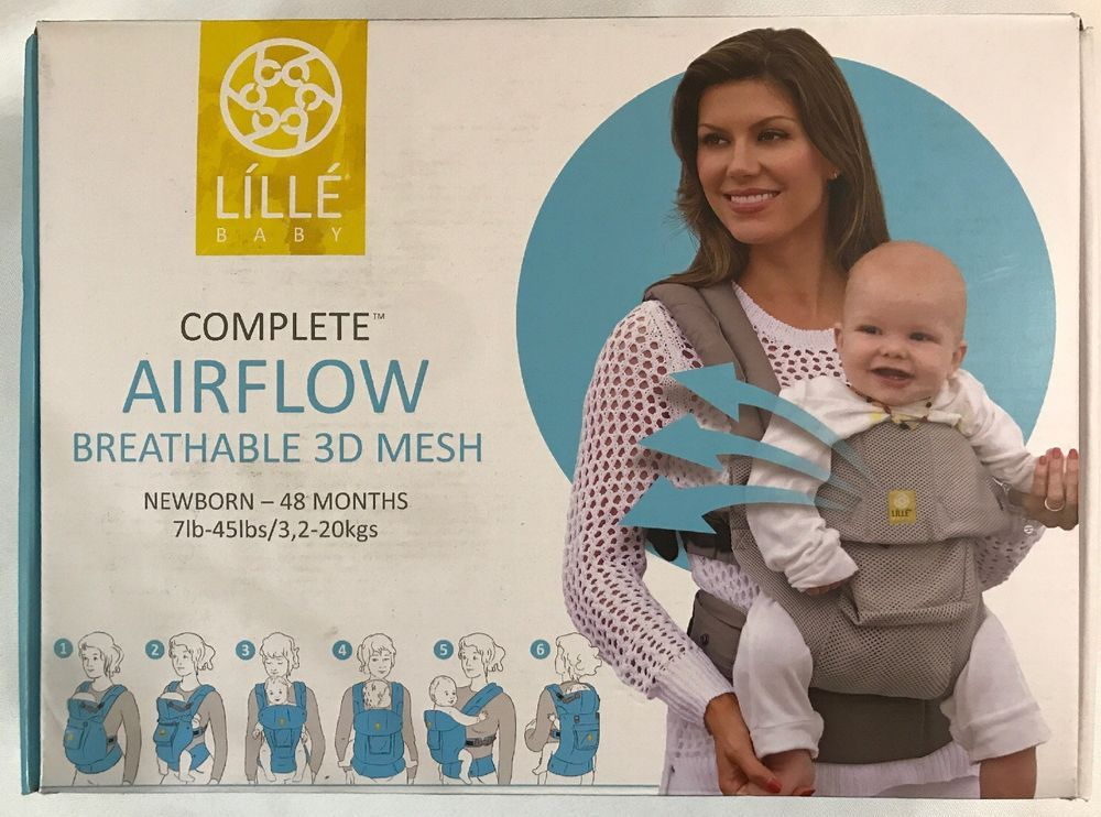 976105d4b50 LiLLEbaby Complete Airflow 6 Position Baby Carrier Navy Blue Anchors  218  NIOB